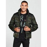 Armani Exchange Padded Jacket, Camo Green, Size Xl, Men