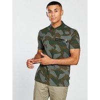 Armani Exchange Camo Polo Shirt, Camo Green, Size Xl, Men