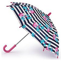 Joules Joules Umbrella Fulton Junior Botany Floral Stripe Umbrella, One Colour, Women