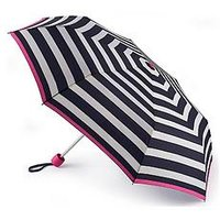 Joules Joules Minilite Wide Coastal Stripe Umbrella, One Colour, Women