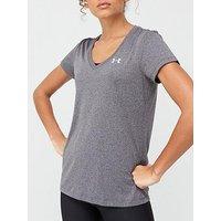 UNDER ARMOUR Tech Tee - Grey , Grey, Size L, Women