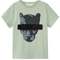 Mango Boyspantha T-shirt, Khaki, Size 9-10 Years