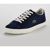 Lacoste Lerond 317 Lace Up Plimsoll, Navy, Size 5 Older