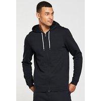 V by Very Zip Through Hoody, Black, Size S, Men