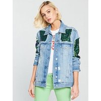 Guess Ellie Jacket, Marble Used, Size M, Women