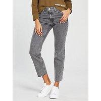 Tommy Jeans High Rise Izzy Slim Jean - Grey, Grey, Size 32, Women