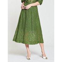 Moss Copenhagan Nate Lacey Skirt - Garden Green, Garden Green, Size L, Women
