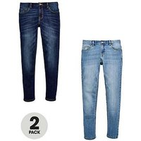 Boys, V by Very 2 Pack Skinny Jeans, Denim, Size Age: 12 Years