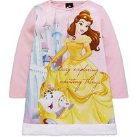 Disney Beauty and The Beast Beauty And The Beast Fur Nightie, Pink, Size Age: 2-3 Years, Women