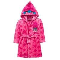 Dreamworks Trolls Trolls Girls Poppy Fleece Dressing Gown f1a96f591