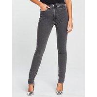 Calvin Klein Jeans High Rise Skinny Jean - Stockholm Grey, Stockholm Grey, Size 30, Women