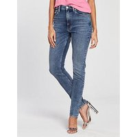 Calvin Klein Jeans 020 High Rise Slim West Cut Jean - Aptos Blue, Aptos Blue, Size 26, Women