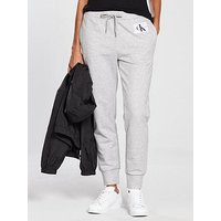 Calvin Klein Jeans Cotton Sweatpants - Light Grey Heather, Light Grey Heather, Size Xs, Women