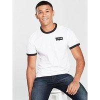 Levi's Levis Ringer Housemark T Shirt, White/Black, Size M, Men