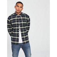 Levi's Levis Sunset 1 Pocket Checked Flannel Shirt, Navy/Green, Size 2Xl, Men