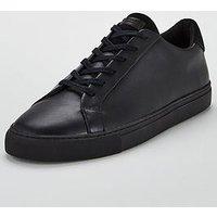 KG Donnie Leather Trainer, Black, Size 11, Men