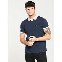 Pretty Green Silverdale Ss Polo, Navy, Size L, Men