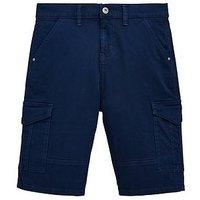 Boys, V by Very Cargo Utility Shorts, Navy, Size Age: 8 Years