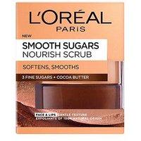 L'Oreal Paris Smooth Sugar Nourish Cocoa Face And Lip Scrub 50ml, One Colour, Women