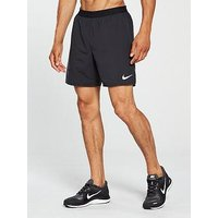 Nike Running Distance 7-Inch Shorts, Black/Black, Size M, Men