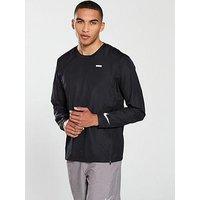 Nike Running Essential Crew Neck Jacket, Black, Size S, Men