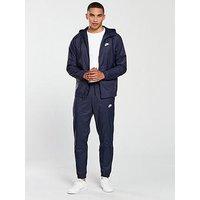 Nike Sportswear Woven Tracksuit, Obsidian/White, Size S, Men