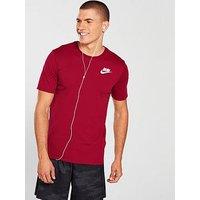 Nike Running Dry Solid Swoosh T-Shirt, Red Crush/White, Size M, Men