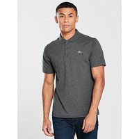 Lacoste Sport Basic Logo SS Polo Shirt, Charcoal, Size 5, Men