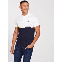Lacoste Lacoste Sport Cut & Sew Multi Stripe Polo Shirt, Navy, Size 3, Men