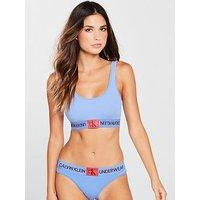 Calvin Klein Logo Bikini Brief, Periwinkle Blue, Size Xs, Women