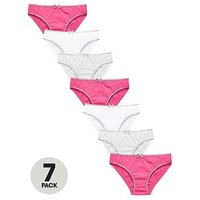 V by Very Girls 7 Pack Knickers, Multi, Size 13-14 Years, Women