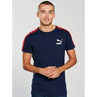 Puma Classics T7 T-Shirt, Navy, Size L, Men