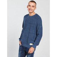 Tommy Jeans Textured Knit Jumper, Blue, Size M, Men