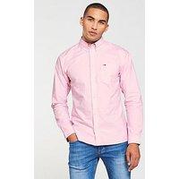 Tommy Jeans Buttondown Shirt, Light Pink, Size S, Men