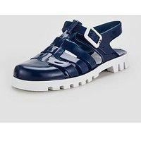 Ju Ju JuJu Jelly sandal, Blue/White, Size 5 Younger
