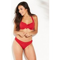 Pour Moi Getaway Underwired Top, Red, Size 36F, Women