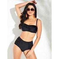 Pour Moi Fiesta Strapless Underwired Bikini Top - Black , Black, Size 38E, Women