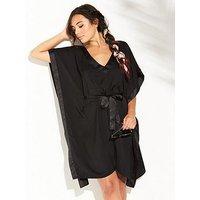 Pour Moi Jet Set Cover Up - Black, Black, Size 18, Women