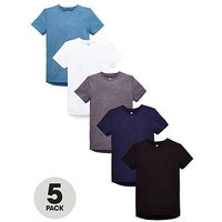 Boys, V by Very 5 Pack Short Sleeved T-Shirts, Multi, Size 16 Years