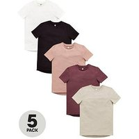 Boys, V by Very 5 Pack Short Sleeved T-Shirts, Multi, Size 11 Years