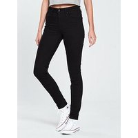 Levi's 721 Skinny High Rise Jean - Black, Black, Size 30, Inside Leg Regular, Women
