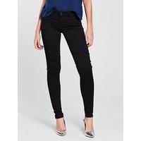 Levi's 710 Innovation Super Skinny Jean – Black, Night, Size 30, Inside Leg Short, Women