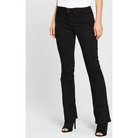 Levi's 715 Mid Rise Bootcut Jean - Black, Black Sheep, Size 30, Inside Leg Short, Women
