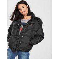 Levi's Anya Padded Coat - Black, Denim, Size L, Women