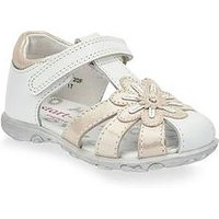Start-rite Primrose Girls Sandal, White/Silver, Size 6.5 Younger