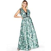 Little Mistress Print Maxi Dress, Print, Size 12, Women