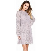 Little Mistress Lace Shift Dress, Oyster, Size 6, Women