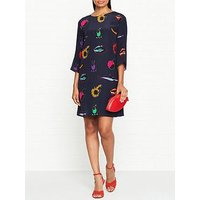 Ps Paul Smith Artful Lives Print Tunic Dress - Navy