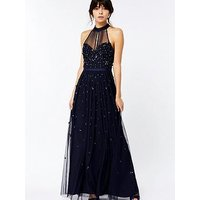 Monsoon Alexa Embellished Maxi Dress - Navy
