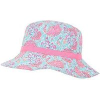 Accessorize Bazaar Print Reversible Hat, Multi, Size 3-6 Years
